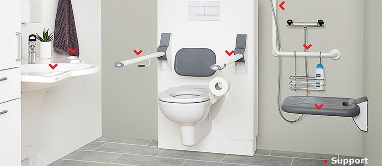 Pegangan Toilet Lansia Yang Dapat Naik Turun Motionaid One